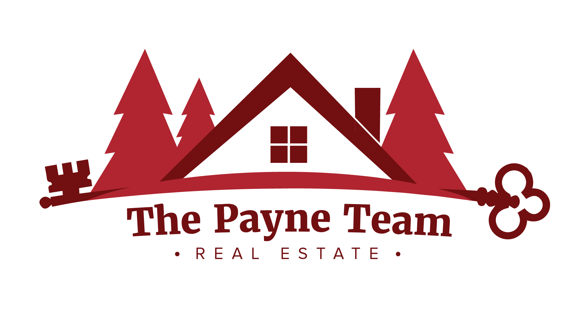 The Payne team - Bill and Dawn Payne are realtors based in Sullivan County, NY. Dealing with many listings in rural parts of the county, they wanted their logo to reflect on the beautiful properties they sell to clients, which are often deep in the woods.