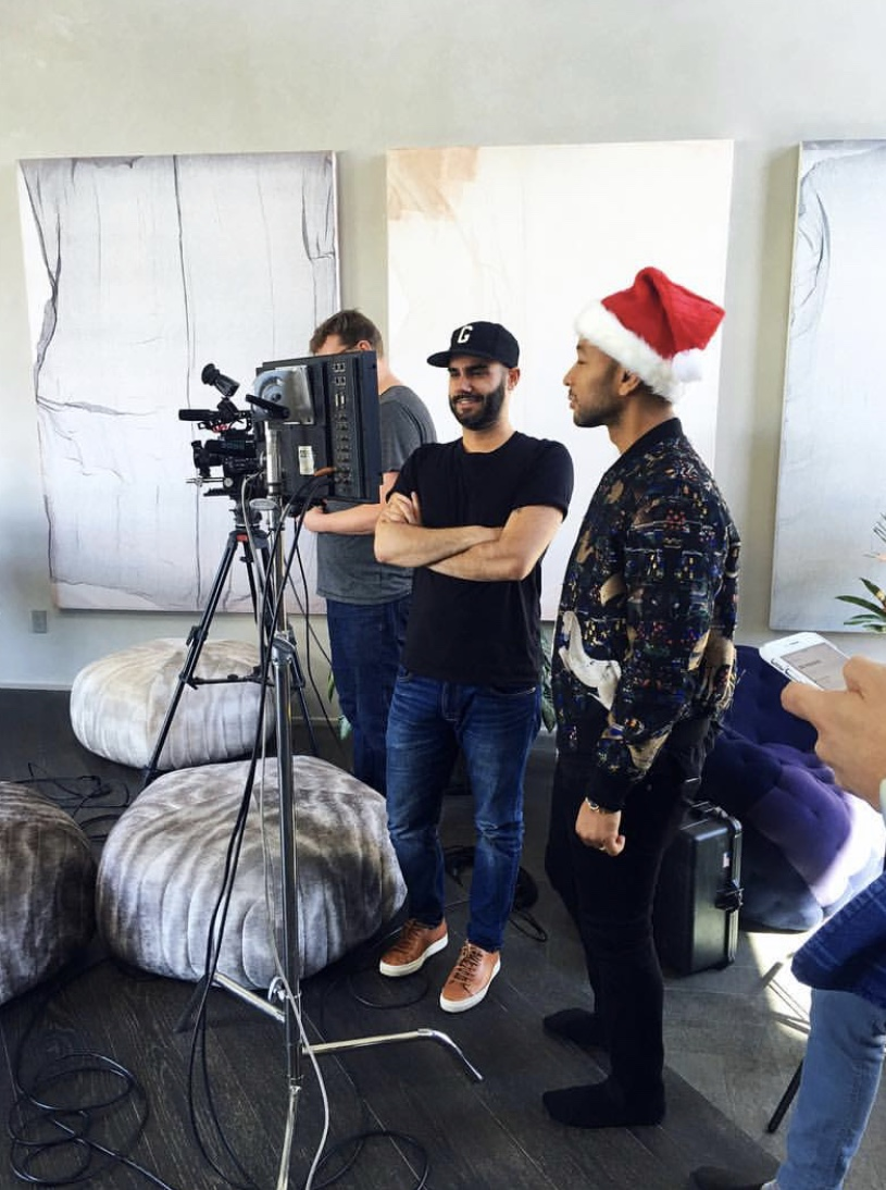 Torre Catalano Directing a Music Video with John Legend