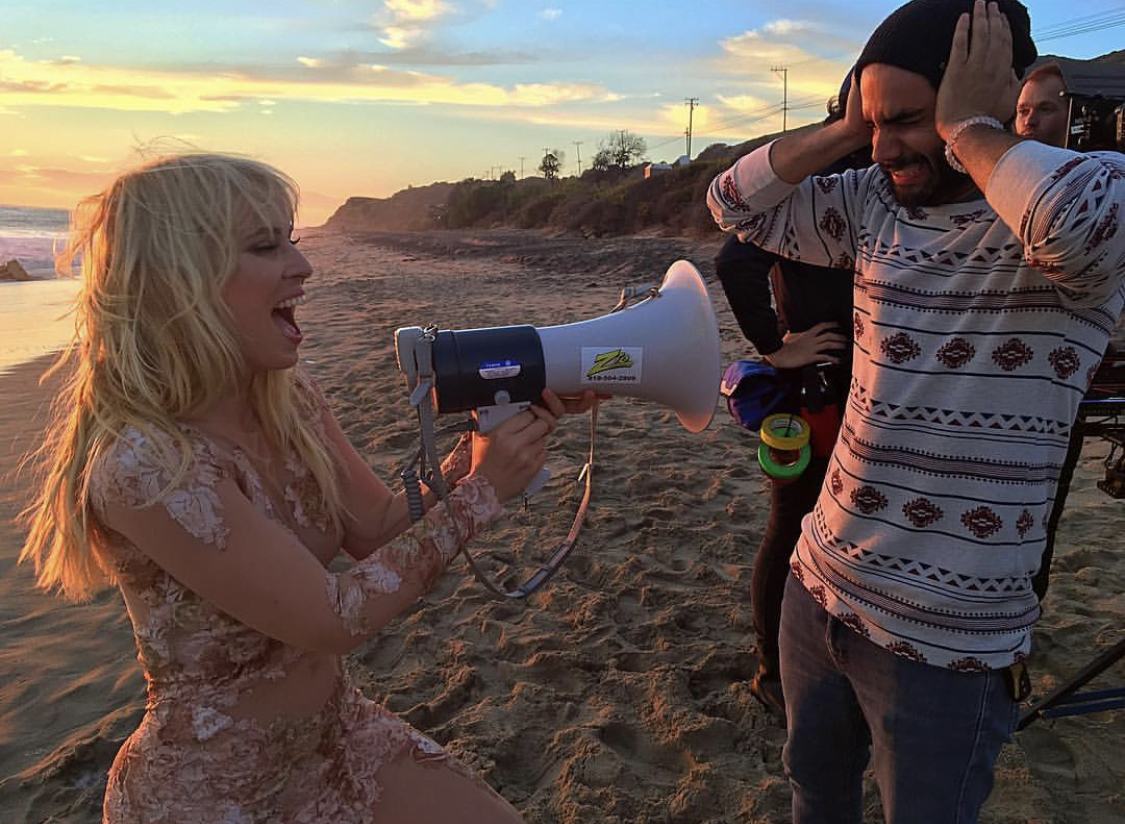 Torre Catalano Directing a Music Video for Natasha Bedingfield