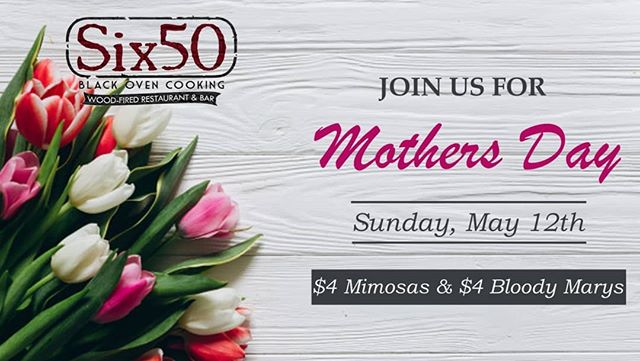 Treat Mom to a nice lunch or dinner at any of our three locations this Sunday! Our Sodus Point location will be open for breakfast at 6am if the morning is more your cup of tea! #six50 #six50chili #six50victor #six50sodus #mothersday #mimosa #bloodymary #lunch #dinner #treatyourmom