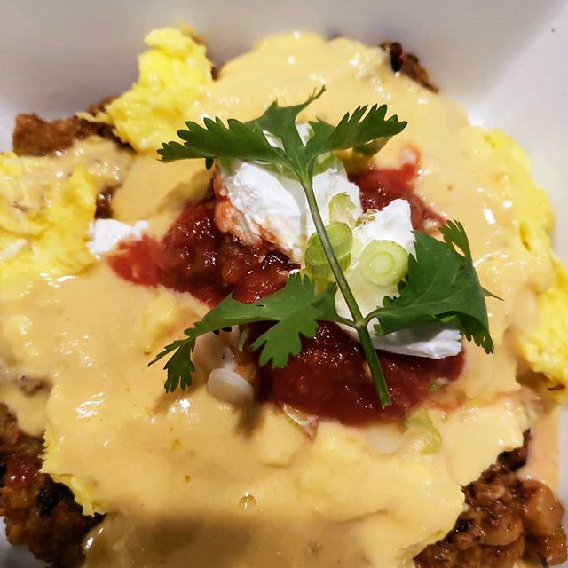We opened at 9am this morning at Six50 on the Bay! Here's a view of our Chorizo Bowl, come on down for a filling breakfast! #six50 #six50sodus #chorizo #eggs #breakfastbowls #yummy
