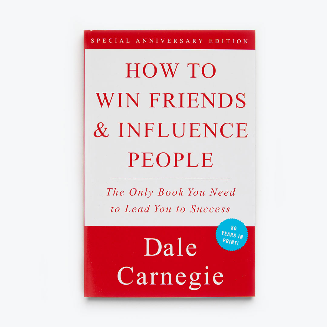 The  Carnegie classic  about how to connect with others and form healthy, mutually beneficial relationships. A  must read  for any aspiring influencer.  For more than sixty years the rock-solid, time-tested advice in this book has carried thousands of now famous people up the ladder of success in their business and personal lives.  Amazon affiliate link .