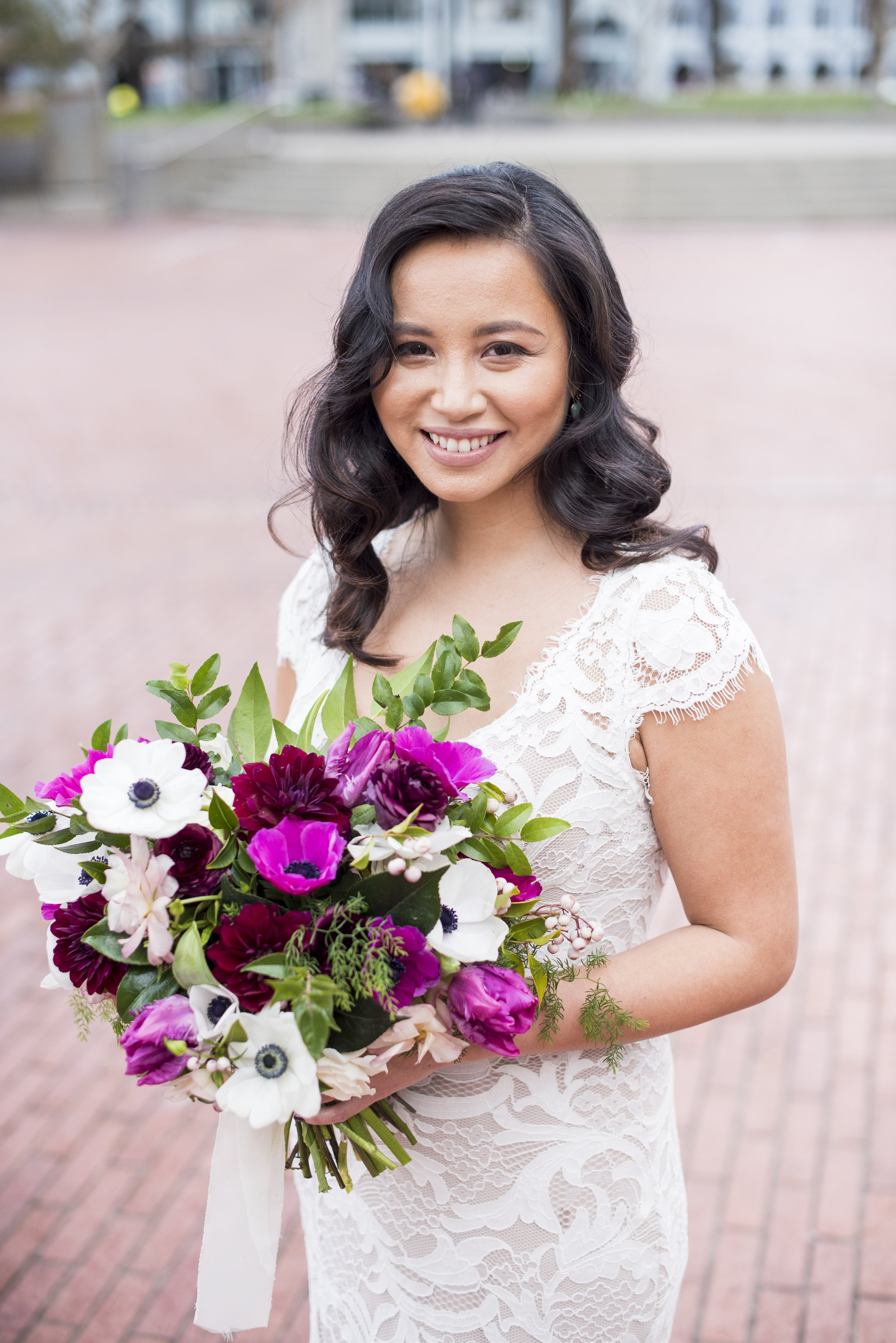 """""""100% recommend her talent and warm personality for any Bay Area bride. She was prompt, professional, communicative, down-to-earth, and beyond talented."""" - -JoAnn"""