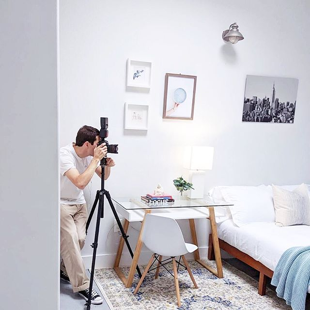It's all about the angles Luke! Our favorite in-house photographer in action and a sneak peak at our new Bed-Stuy #stoopapartment #behindthescenes #team