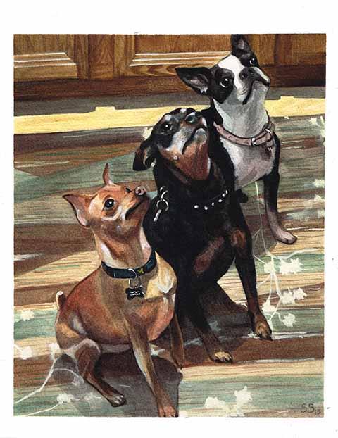 SaraDhyne_Doggies_8x10_Watercolor_2013.jpg
