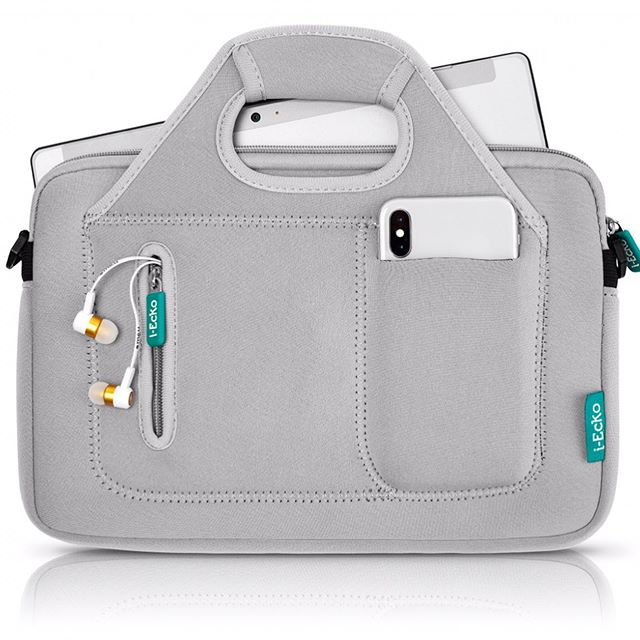 """This week only, with a purchase of me.u Earphones, you will receive a complimentary i-Ecko 12"""" Carrying Sleeve in Street Chic Gray... Perfect for travel with a compartment to store your me.u Earphones - don't miss out! Offer ends 6/27 while supplies lasts. Happy shopping! 😊"""
