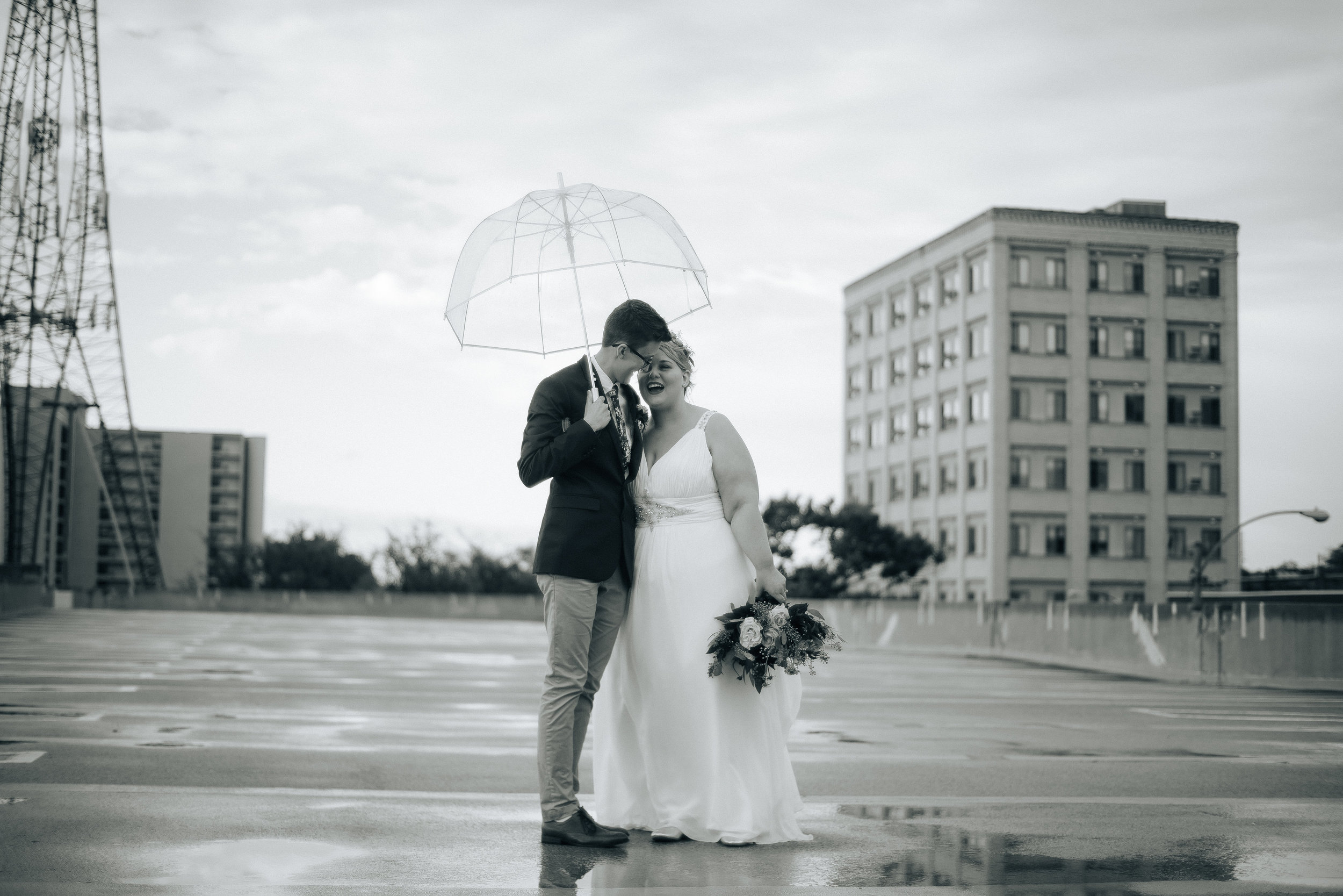 Wedding photo of my wife (on the left) and me (on the right) by Jordan Bauer.