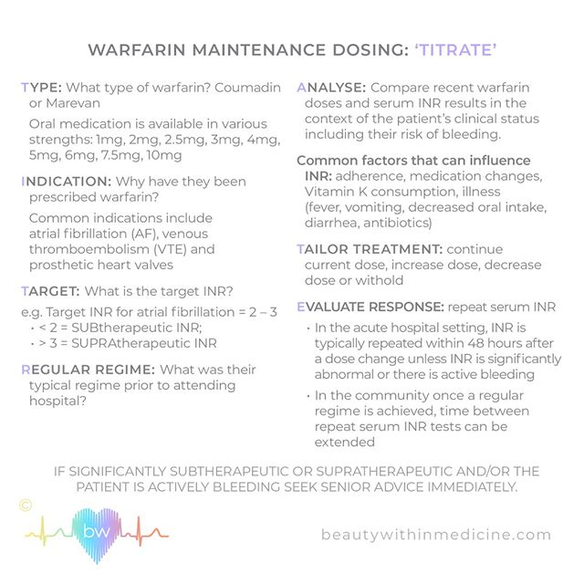 Dosing warfarin is a game of push and pull. First you must gather information...and then you can TITRATE⠀⠀⠀⠀⠀⠀⠀⠀⠀ ⠀⠀⠀⠀⠀⠀⠀⠀⠀ #warfarin #doctor #prescribing #medicine #medicalstudent #intern #internship