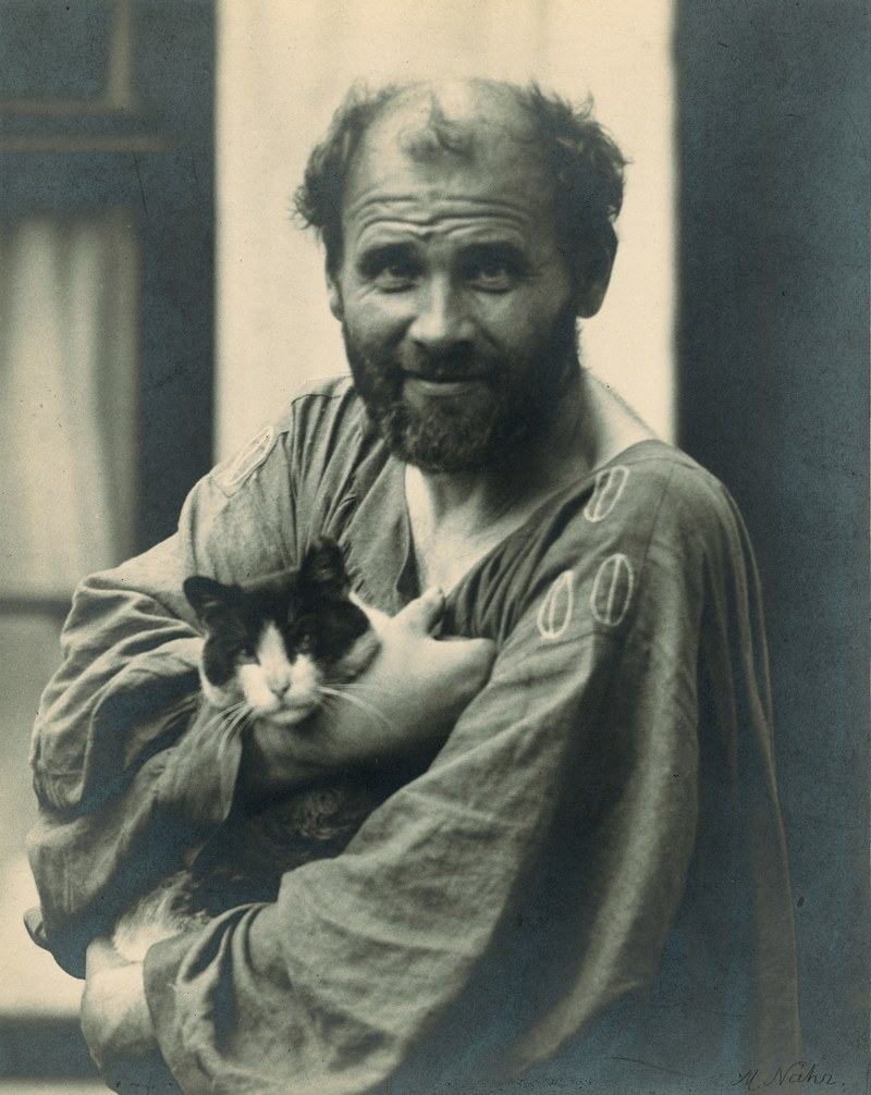 Best known for his painting  Portrait of Adele Bloch-Bauer I  (a portrait which, in 2006, sold for a then world record $135 million and was later the theme of the movie  Woman in Gold ), Austrian-born Gustav Klimt also had a love for his cats.