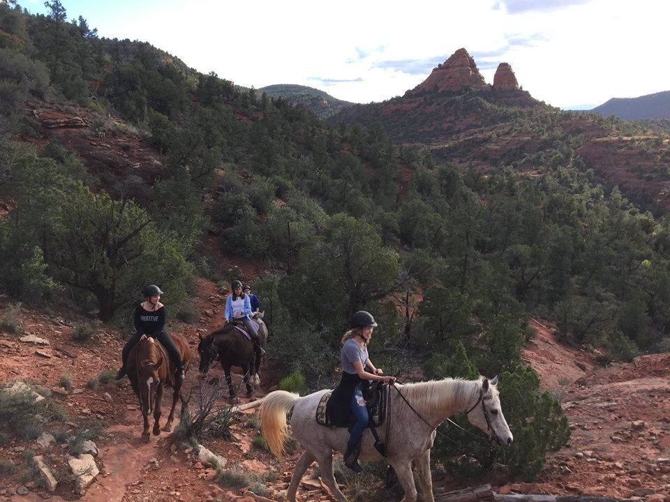 travel through the red rocks in the most incredible way - horseback riding