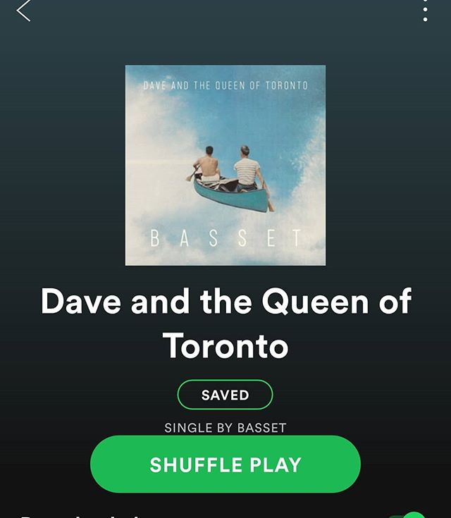 "Our debut single 🌻""Dave and the Queen of Toronto"" 🌻is up on Spotify, Apple Music and Itunes!! Link in our Bio! Please check it out and share it if you can! It's full of so much love 💙"