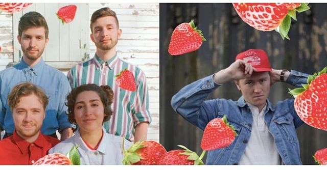 "🍓UNPOPULAR OPINION:🍓 Sour strawberries are BETTEr than sweet. Fight me. - Yas 🌱We'll  be playing a show with the super talented @greg_smith_music next Thursday called ""Folk, Fruit and Friends"" through @artery.is 🌱The featured fruit will in fact be Strawberries 🌱The featured genre will in fact be Folk 🌱And, hopefully, we'll get to be surrounded by friends new and old.  We'll  be playing in a west end garden, touched by the soft evening sun of late spring and popping blessed fruit in our mouths by the basket! 🍓 . . . . . . . #Music #folkmusic #folk #folkband #americana #torontomusic #toronto #collage #art #torontoart #instagramart #photography #bandphoto #fiddle #guitar #beach #blue #sky #bandart"