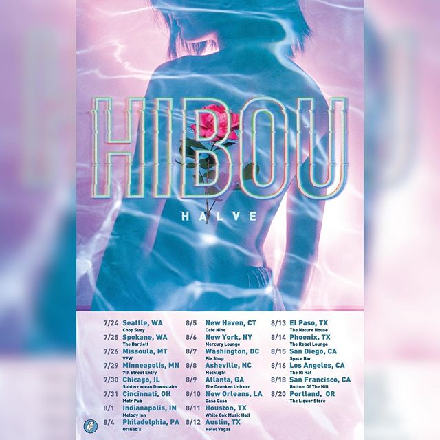 Stoked to help spread @hibouband 's sick riffs across the USA 🇺🇸this summer🌞☀️🌺🦉💖come out (and bring me snacks🥬🥕🥦🍓)
