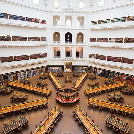 STATE LIBRARY VICTORIA - 7 minutes walk