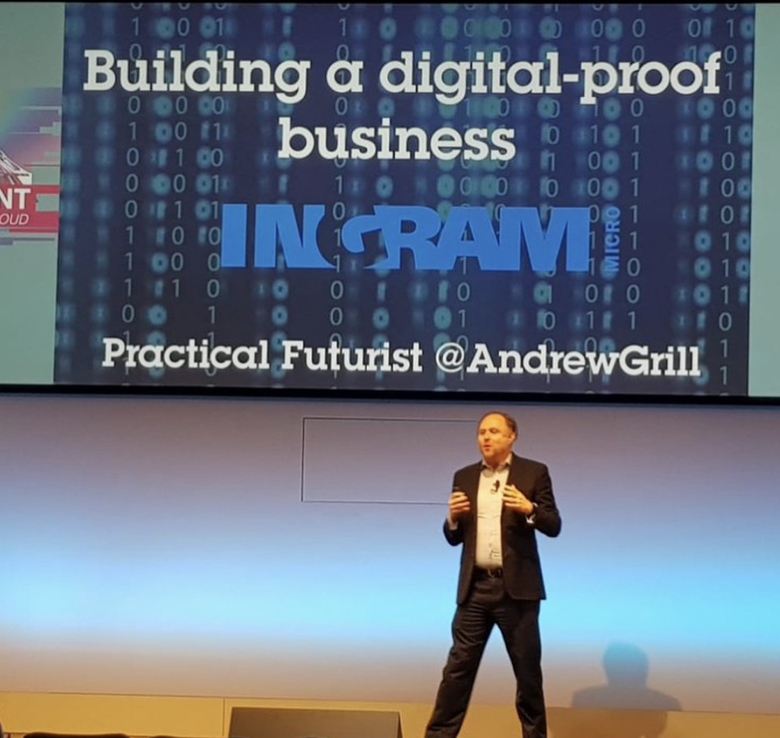 Andrew Grill in his element - educating about the future of work and businesses