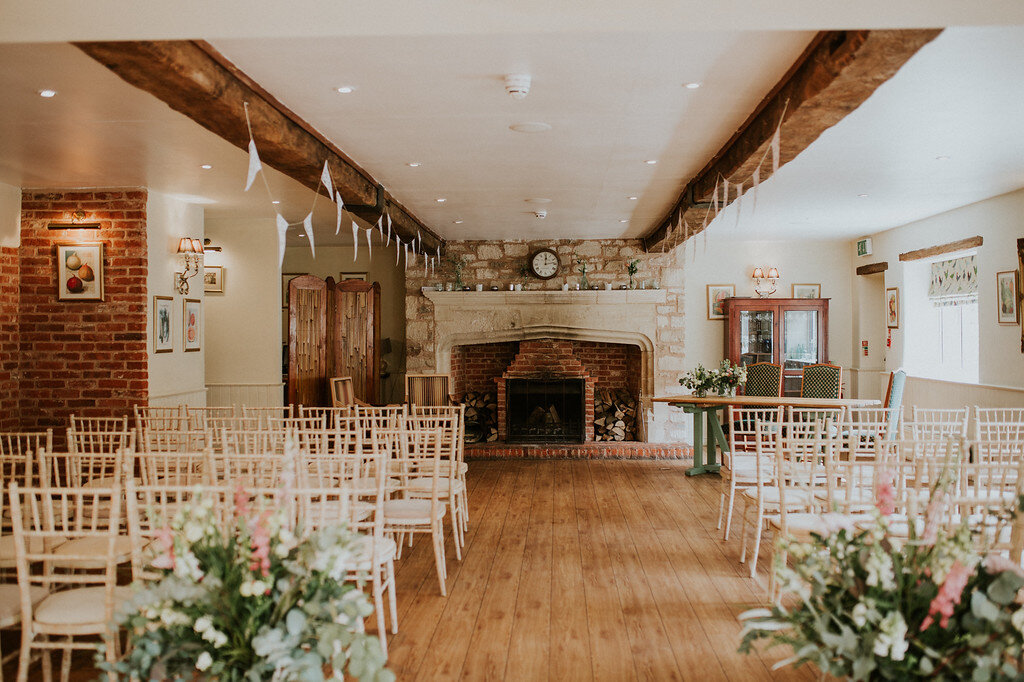 The ceremony - Get married in our Milking Parlour for up to 120 guests