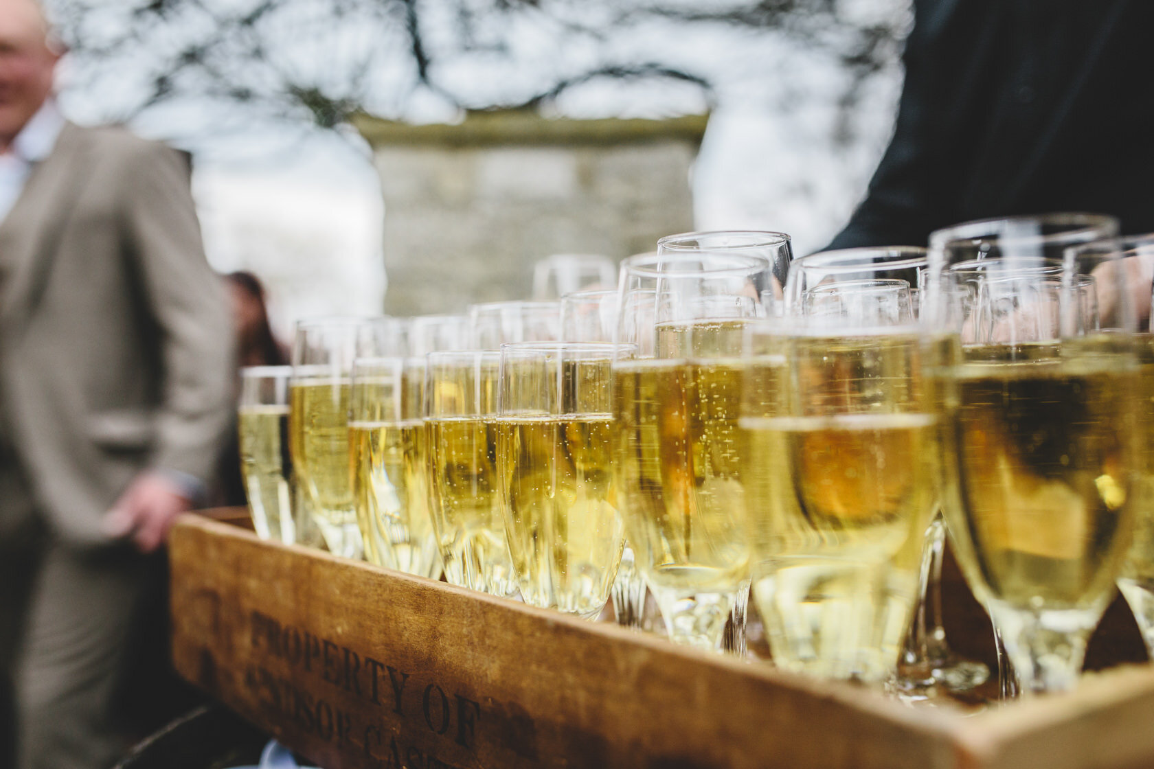 Speeches - All guests enjoy a glass of prosecco in celebration of your marriage