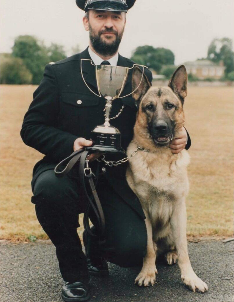 1983-1989: Regular Use of Police Dogs - PD Major gave chase but was lost by his handler following a police raid, he was found hours later sitting outside the house of the person who escaped earlier.1984, new BTP Dog Training facilities opened at Tadworth under the command of Inspector Lloyd (considered the best in the country).The Dog Section had increased from 24 Dogs, back up to 39, incl. 2 expo dogs & the BTP Dog Trials started again…1985, Police dogs were being regularly used to assist with the fight against cable crime & arrest of offenders.1987 - PC Harrison & PD won the force dog trials at Tadworth.PC Judy Bailey became the first women dog handler in London. She attended a HO course for Alert Detection Passive Dogs, it was a first for BTP.In the following 2 years BTP was used as pilot for other forces, a successful partnership with over 4000 stops & 1500 arrests.1989, Lockerbie, two BTP Glasgow dog handlers attended the scene & assisted with body recovery & evidence collection.