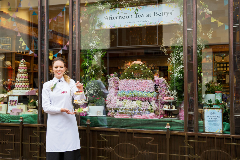 Betty's Giant Teapot won Best Window (People's Vote) Bloom York 2018