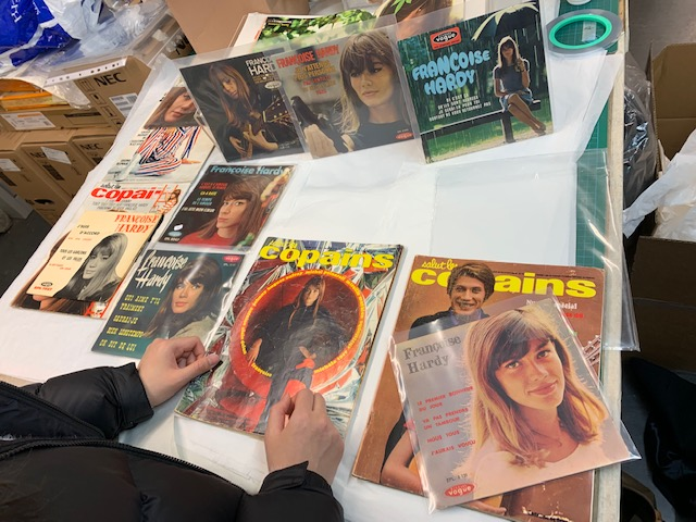 """Assembling the artefacts for the Françoise Hardy, or the """"Yé-yé girl from Paris"""" exhibit"""