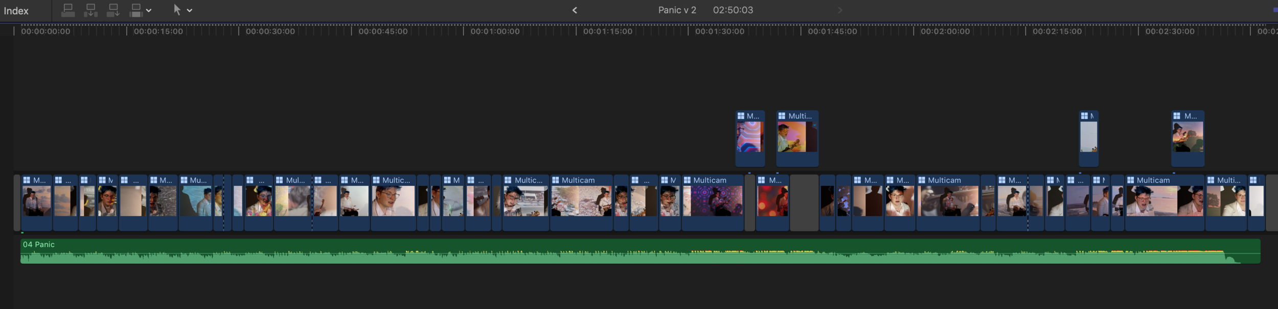The final version of the timeline, with duplicates removed and finessing done