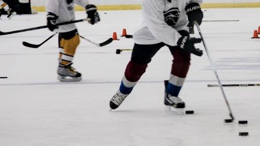 Puck Handling - During the puck handling sessions we will be going through some drills that are built for forwards as well as defenseman. One example of a skill that we would emulate in a drill is handling the puck in your skates, getting it to your stick and either making a pass or shooting.