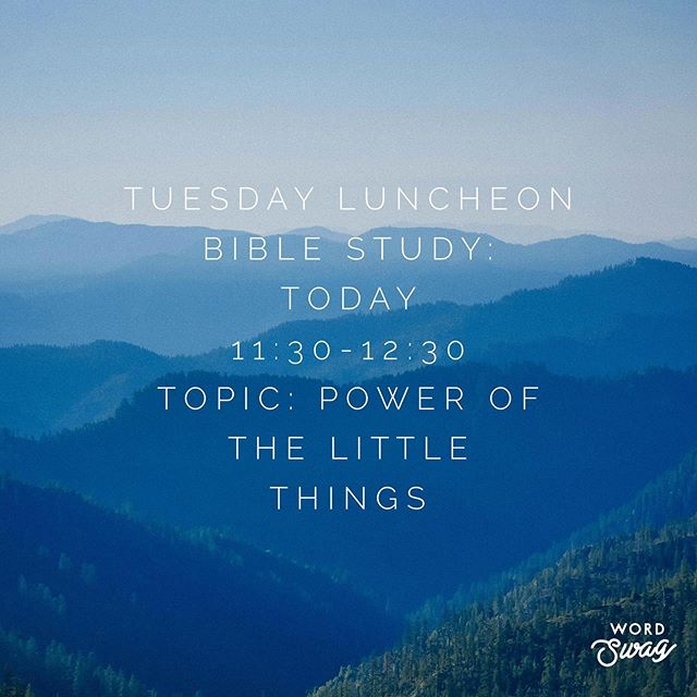 Happy Tuesday everyone! Come join us around 11:30 for a Bible study and FOOD! There will be pizza and subs. Can't wait to see you there!