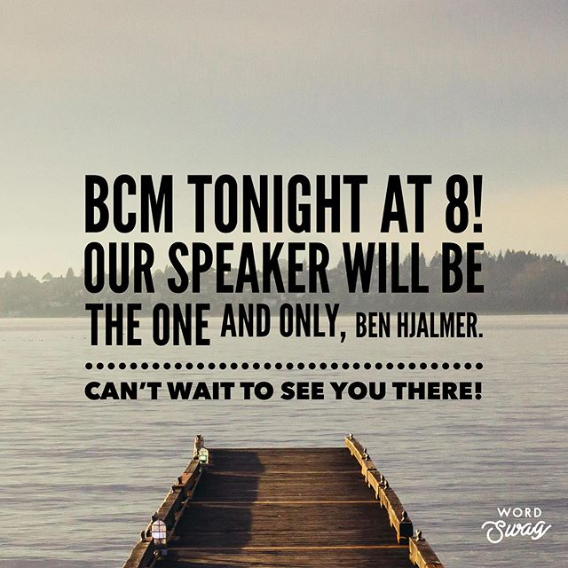 You heard it here folks, BCM IS TONIGHT AT 8!! You guys are NOT ready for this one. See you there! 🤩