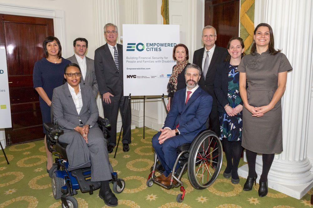 Photo: EmpoweredNYC: partners Citi Community Development, National Disability Institute. Photographer/Mayoral Photography Office.