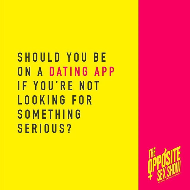 Let us know your thoughts. In our latest episode we discuss our feelings on if it's OK or not to be active on dating apps if you're not ready for a serious relationship but honest with your intentions...if you haven't already, listen and subscribe on @applepodcasts @stitcherpodcasts @spotify @googleplaymusic . . #theoss #theoppositesexshow  #datingapps #commitmentissues #relationshipgoals #honesty @karazma @fuzzywarbles