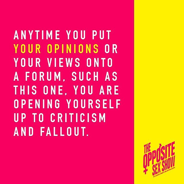 In our latest episode we discuss comedy, cancel culture, safe spaces and freedom of speech and expression...if you haven't already, listen and subscribe on @applepodcasts @stitcherpodcasts @spotify @googleplaymusic . . #theoss #theoppositesexshow  #comedy #comedians #davechappelle #safespace #cancelculture @karazma @fuzzywarbles