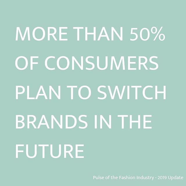 Consumers will switch brands if another acts more environmentally and socially friendly than their preferred one, according to @globalfashionagenda's Pulse of the Fashion Industry 2019 Update. #consciousconsumer #sustainablefashion #globalfashionagenda #pulseofthefashionindustry