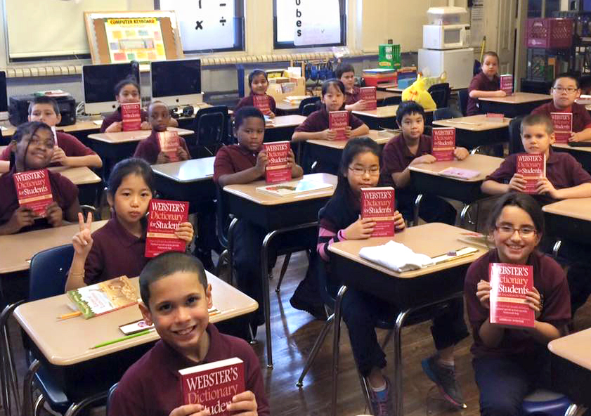 supporting education - Our club distributed over 20,000 thesauruses, dictionaries, atlases, and library books to Philadelphia children at more than 25 underserved schools.