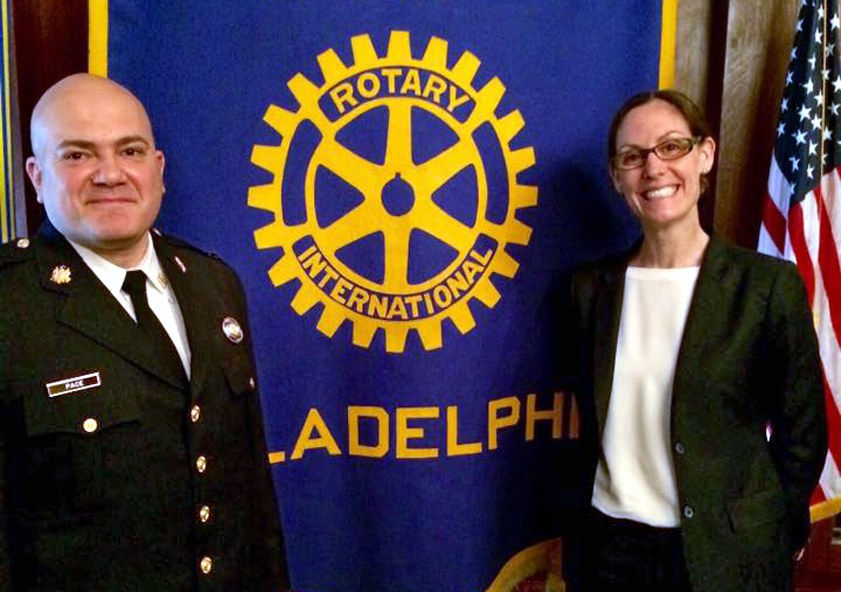 Promoting Peace - We sponsor Rotary International Peace Fellowships for Philadelphia police lieutenants and assistant district attorneys who now teach others violence prevention in our community.
