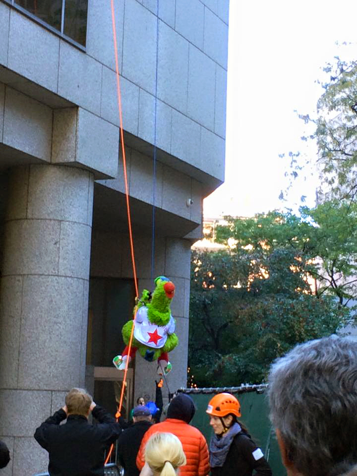 Rappelling challenge