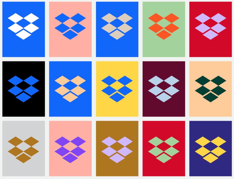 screenshot from Dropbox design