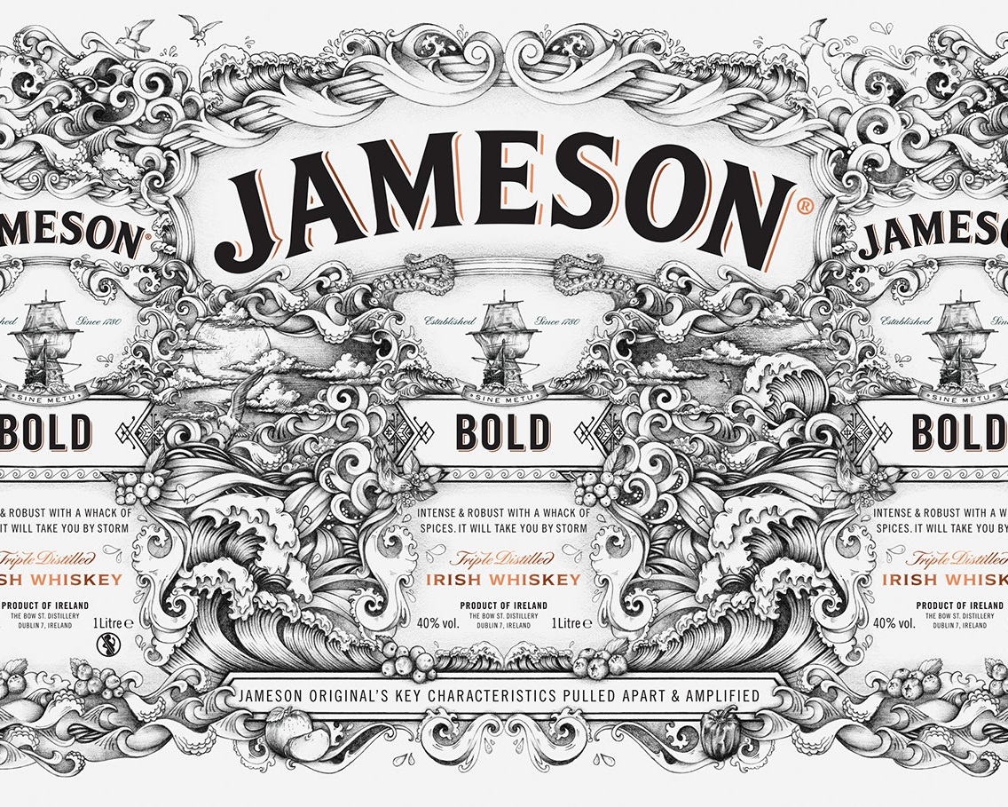 Jameson Whiskey Deconstucted Series - see the whole design process  here