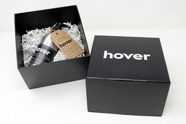 The final packaging and product for the Hover branded lotion