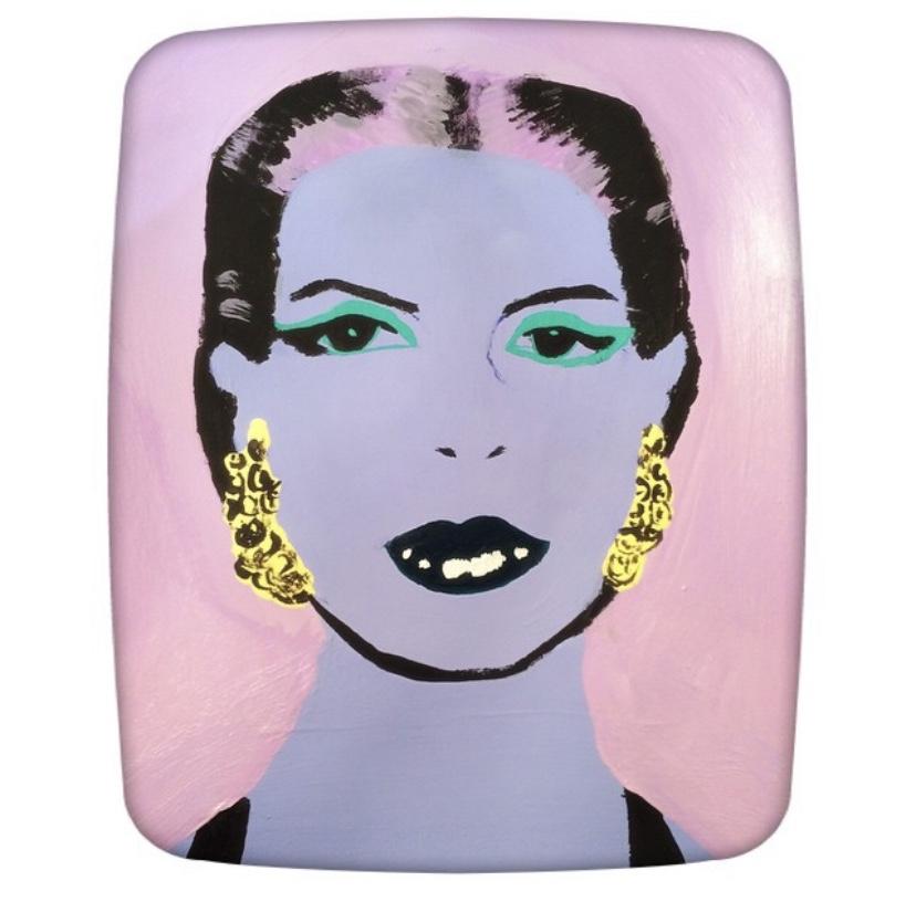 Elizabeth Taylor acrylic painting
