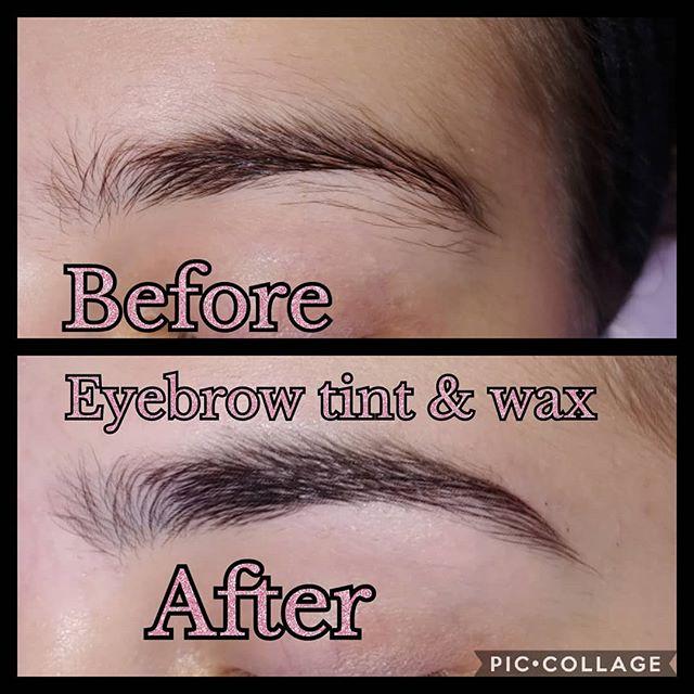 Eyebrow wax and tint. Xx