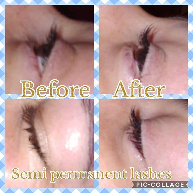 Semi permanent lashes 💖