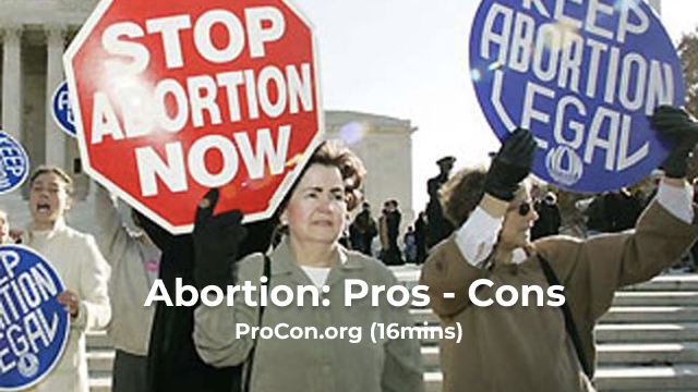 Abortion: Pros - Cons