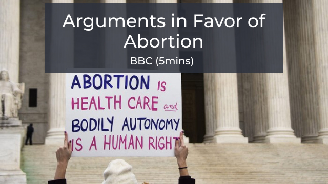 Arguments in Favor of Abortion