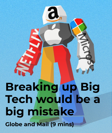 Breaking up Big Tech would be a big mistake