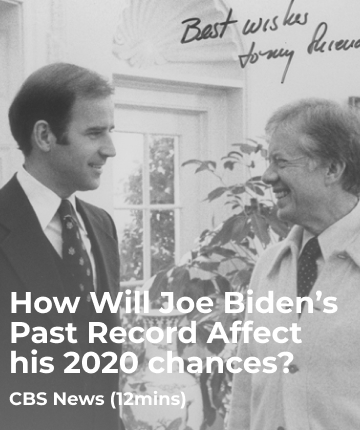 How Will Joe Biden's Past Record Affect his 2020 chances?
