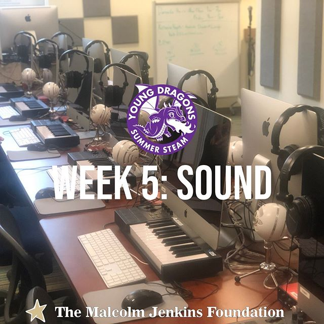Wait...what's that sound 🤔? Oh, that's just Week 5 of #YoungDragons embarking on a journey to learn all about #SoundTechnology!  We can't wait to HEAR what happens this week at @drexelexcite, stay tuned! 🔊👂🏻👂🏼👂🏽👂🏾👂🏿 #TMJF #SummerSTEAM #STEAMdragons . . . . . . #Science #Sound #Technology #Engineering #Arts #Athletics #Mathematics #Sounds #SoundTech #SoundTechnician #Waves #SoundWaves #Studio #SoundBar #Music #Melody #Acoustic