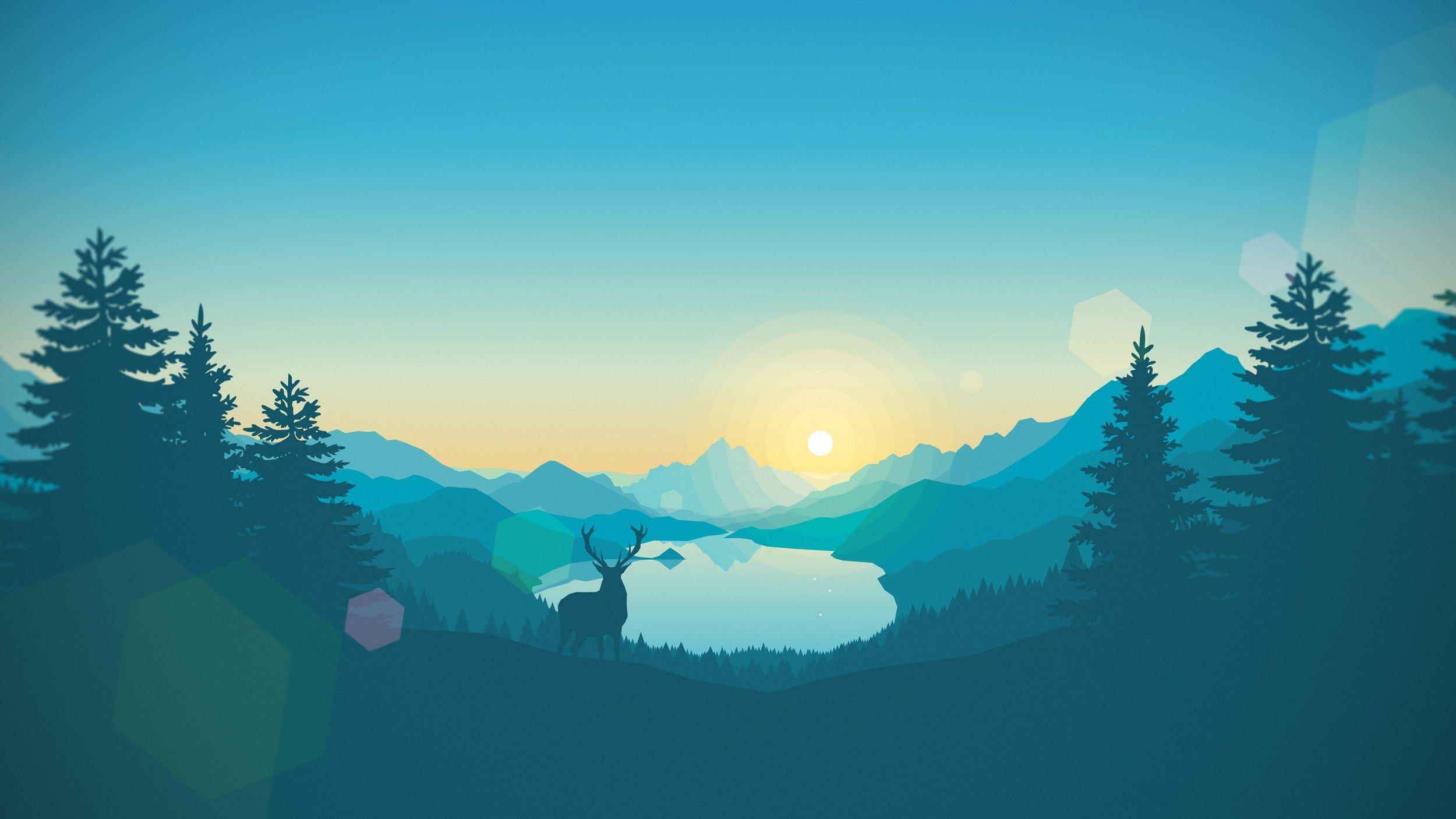 Minimal-Mountain-Wallpaper-Blue-Dusk-Forest-4k-DarGadgetZ-1.jpg