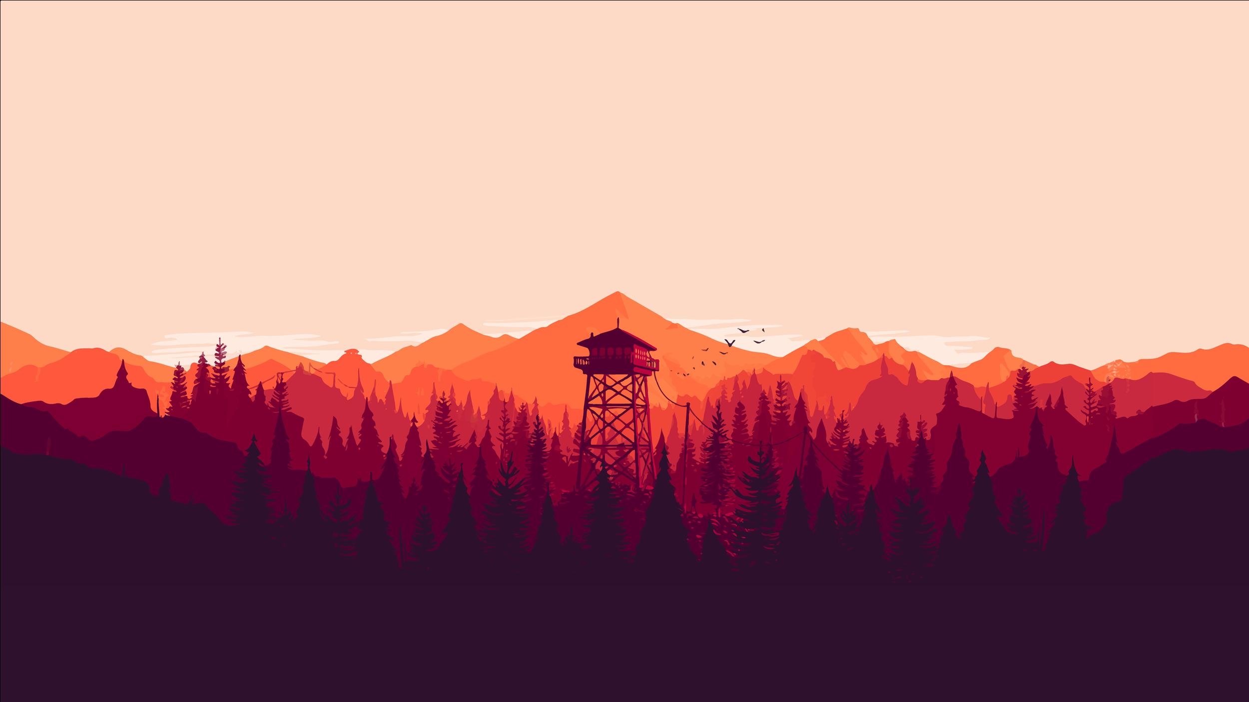 Minimal-Mountain-Wallpaper-Fireward-Red-Hues-DarGadgetZ-1.png