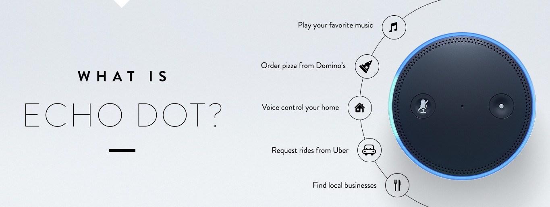 Alexa announces echo dot