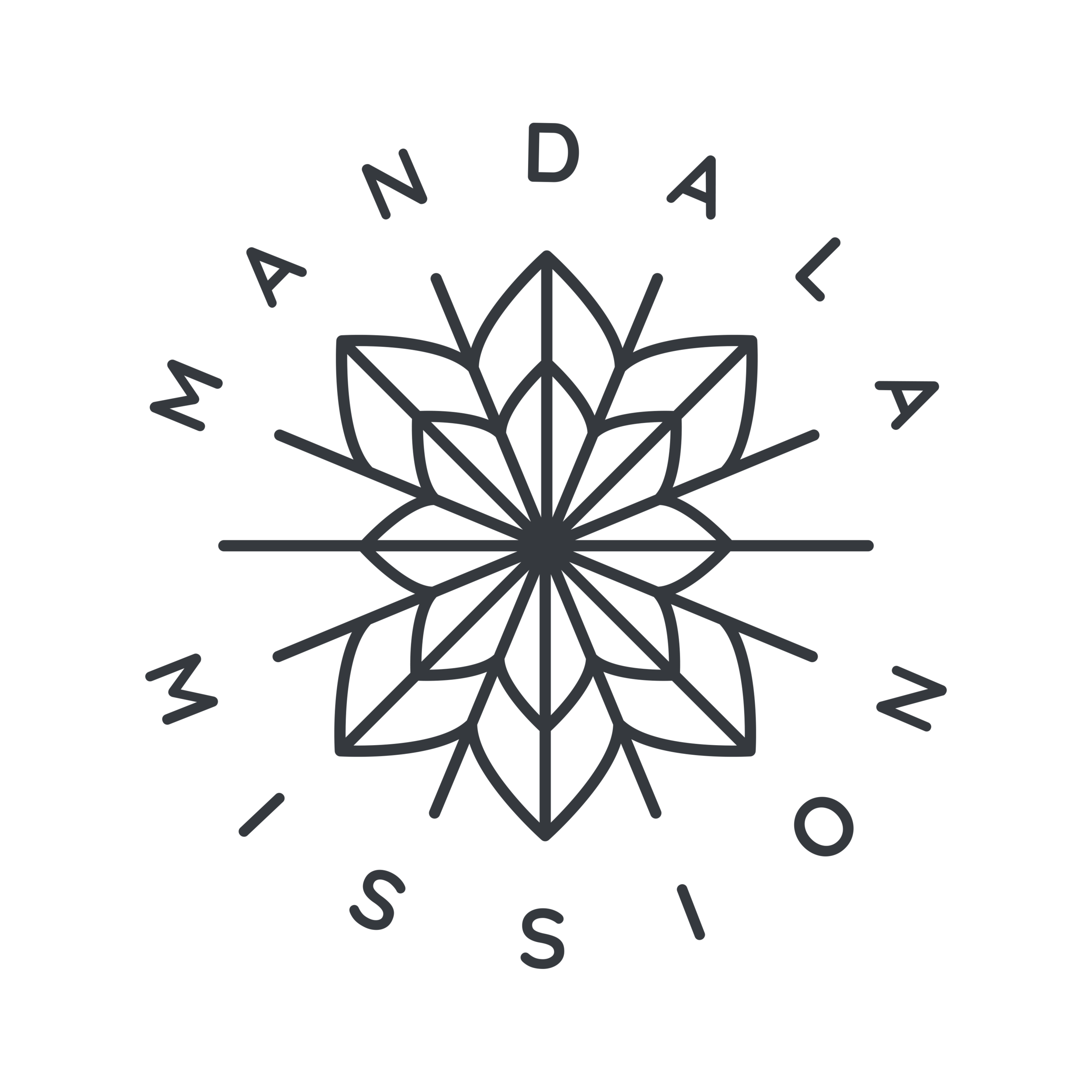 Mandala Full Logo - Blue